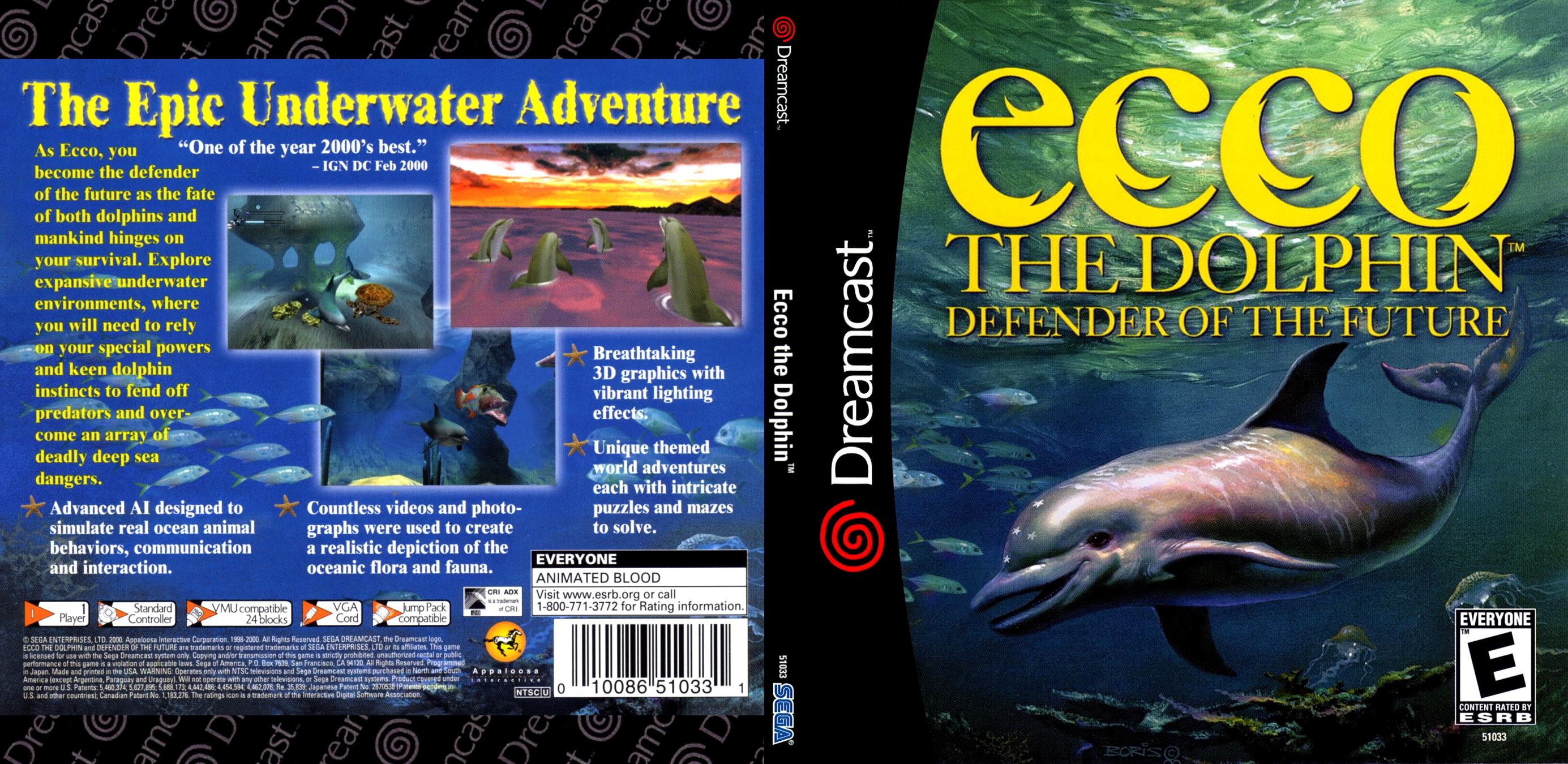 ECCO the Dolphin - Defender of the Future (USA)(En,Fe,De,Es) ISO